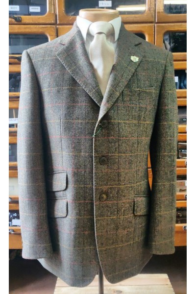 Alan Paine Crompton Tweed Jacket Peat