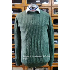 Massoti Knitwear Lambswool Cable Crew-Neck jumper L30C