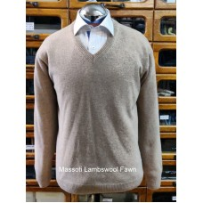 Massoti Knitwear Lambswool V neck jumper L01