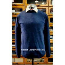 Massoti Knitwear Lambswool Crew neck jumper L05