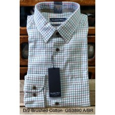 Double Two 100% Brushed Cotton shirt GS3890 A/BR