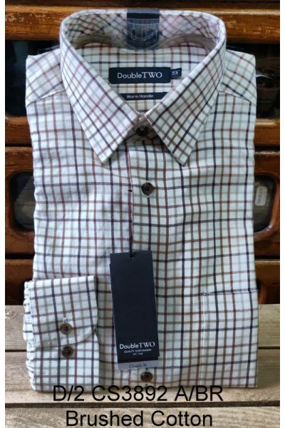 Double Two 100% Brushed Cotton shirt GS3892 A/BR