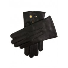 Dents Mendip Wool Lined Leather Officers Gloves  Black 1510