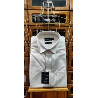 Double Two 4500 Half Sleeve Cotton Rich shirt Cream Price Drop