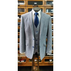 Scott by the label Linen blend Hounds Tooth Check