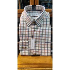 Double Two bold check Brushed Cotton Shirt Rust GS4064/A