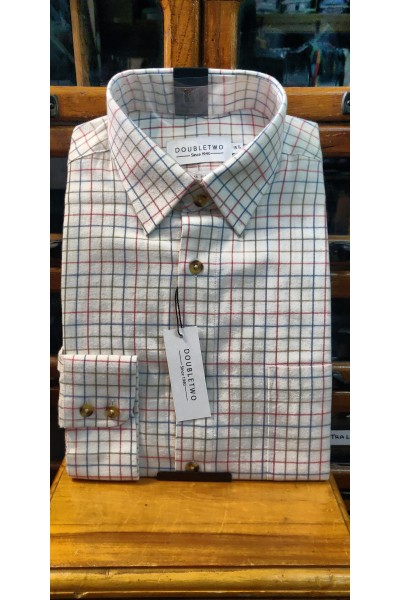 Double Two bold check Brushed Cotton Shirt Red GS4065/A