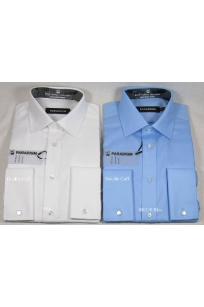 Non-Iron Double Cuff Shirt by Double Two