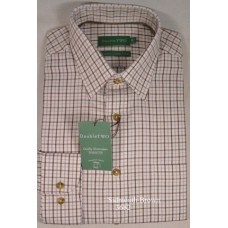 Double Two Brushed Cotton Twill Check Shirt