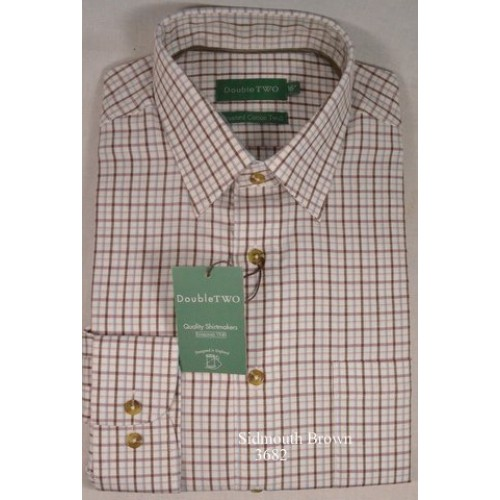 Double two brushed cotton twill check shirt gurds of taunton for Brushed cotton twill shirt