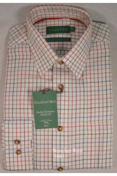 Double Two Twill Check Shirt | Watchet 3681