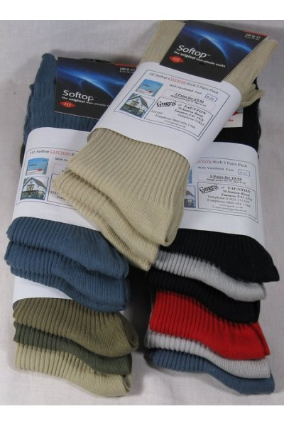 HJ91 Cotton rich socks 3 pair pack