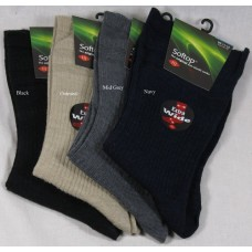 HJ190 Extra Wide Softop Wool Rich Socks